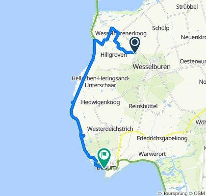Moderate route in Büsum