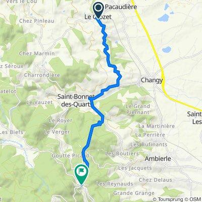De 80 Route de la Pacaudiere, Le Crozet à D41, Saint-Bonnet-des-Quarts