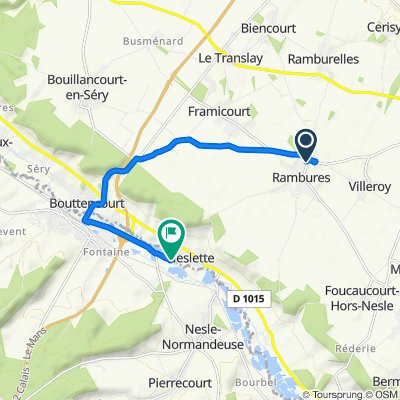 High-speed route in Blangy-sur-Bresle