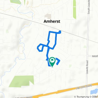 Moderate route in Amherst