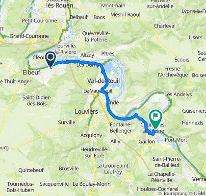 De Route de Pont-de-l'Arche, Martot à 8 Route des Andelys, Courcelles-sur-Seine
