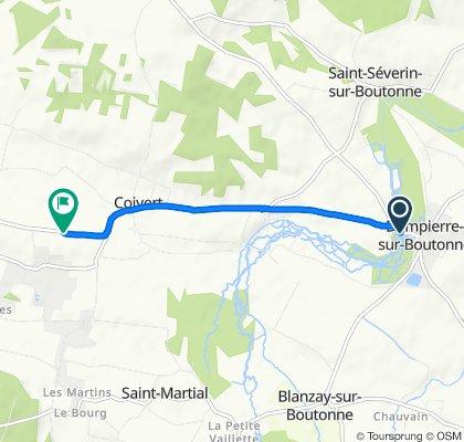 Itinéraire modéré en Dampierre-sur-Boutonne