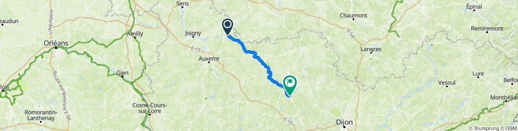 Itinéraire vers 1 Avenue Jean Jaurès, Venarey-les-Laumes