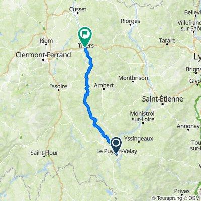 Le-Puy-en-Velay -> Thiers