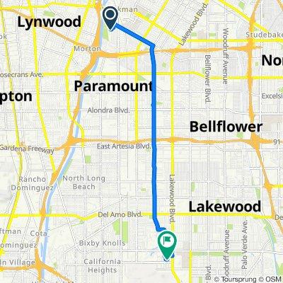 11523 Pennsylvania Ave, South Gate to 4150 McGowen St, Long Beach
