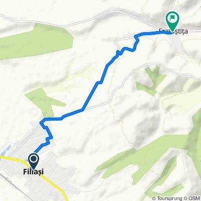 Route from Strada Racoțeanu 148–154, Filiasi