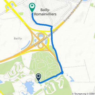 Itinéraire modéré en Bailly-Romainvilliers