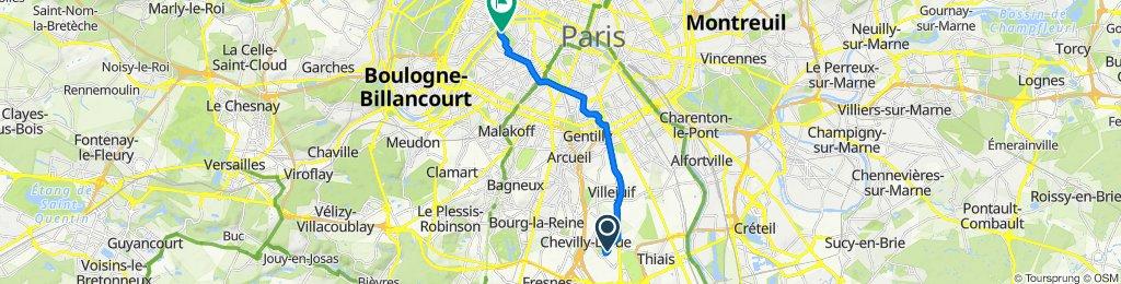 De 19 Rue des Alouettes, Chevilly-Larue à 5 Avenue Anatole France, Paris