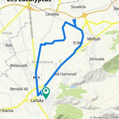 Unnamed Road, Larbaa to Unnamed Road, Larbaa