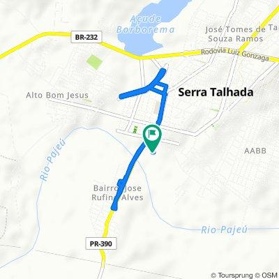 De Segunda Travessa Comendador Superior, 2–30, Serra Talhada a Travessa Comandante Superior Sg, 36, Serra Talhada