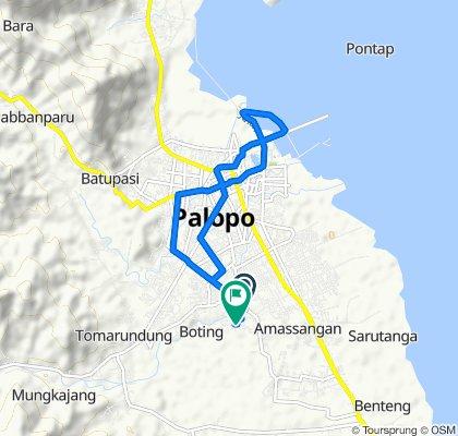 Route from Jalan Kyai Haji Ahmad Razak, Kota Palopo