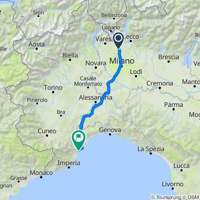 Da Via Francesco Petrarca 5, Figino Serenza a Piazza Italia, Loano
