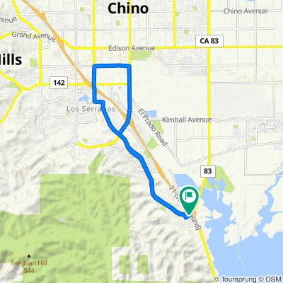 17871 Shady View Dr, Chino Hills to S Euclid Ave, Chino Hills