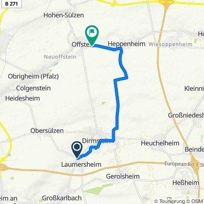 Am Mandelberg 8, Laumersheim nach Wormser Straße 58–60, Offstein
