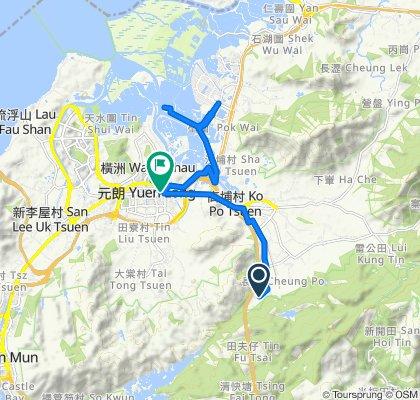 Route to 1–3 Shui Che Kwun Lane, Yuen Long