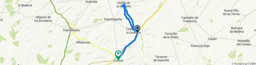 De N-620 197, Castrillo de la Guareña a Calle Valladolid 21, Cañizal