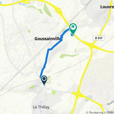 Avenue de la Gare 7, Goussainville naar La Francilienne, Louvres