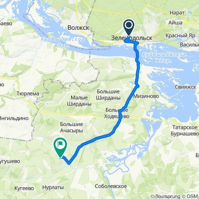 От улица Татарстан 20, Зеленодольск до Unnamed Road, Косяково