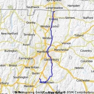 longmeadow - middletown 42 miles