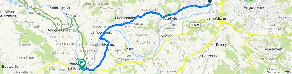 Route from Rue de la Chaussée 6, Fléac