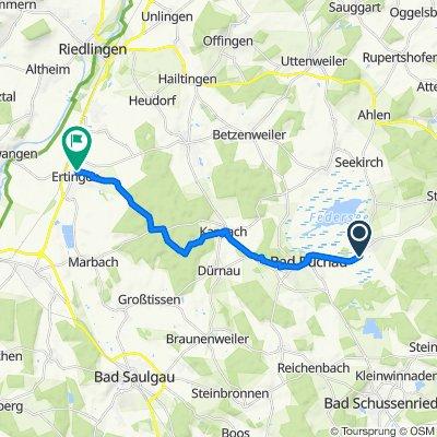 Buchauer Straße, Oggelshausen nach Schillerstraße 8, Ertingen