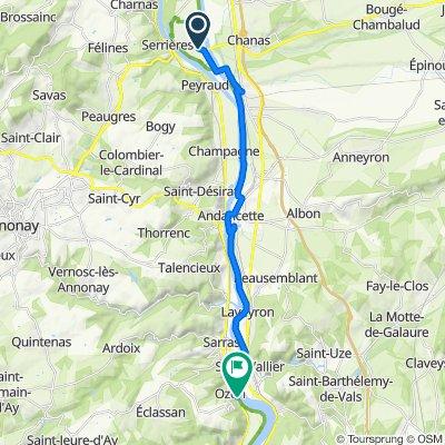 De Route de l'Écluse, Sablons à 1595–1595C Route de Tournon, Ozon