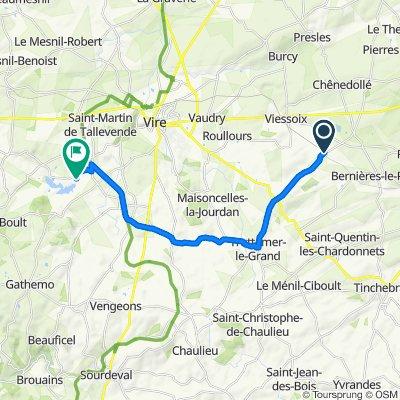 Itinéraire modéré en Saint-Manvieu-Bocage