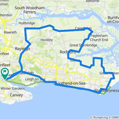 Roadbike Loop from Benfleet