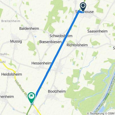 Langsame Fahrt in Marckolsheim