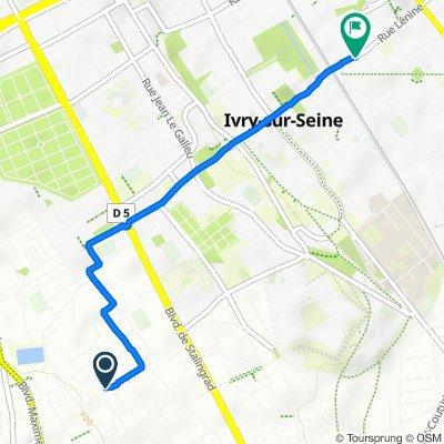 Moderate route in Ivry-sur-Seine