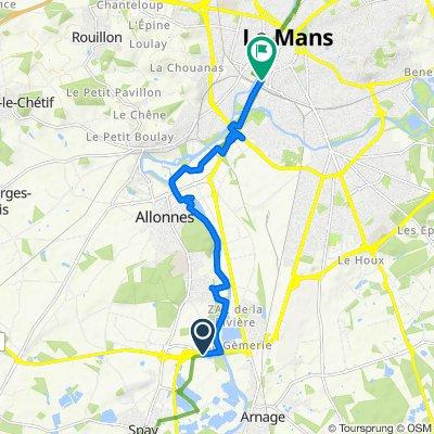 De D323, Spay à Boulevard Demorieux, Le Mans