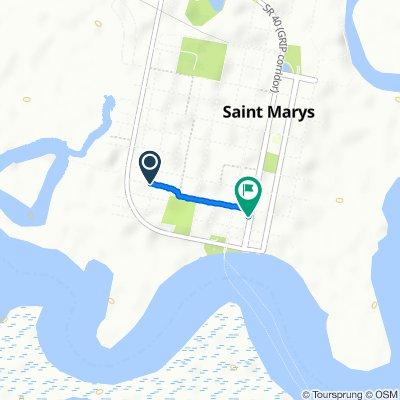 Restful route in Saint Marys