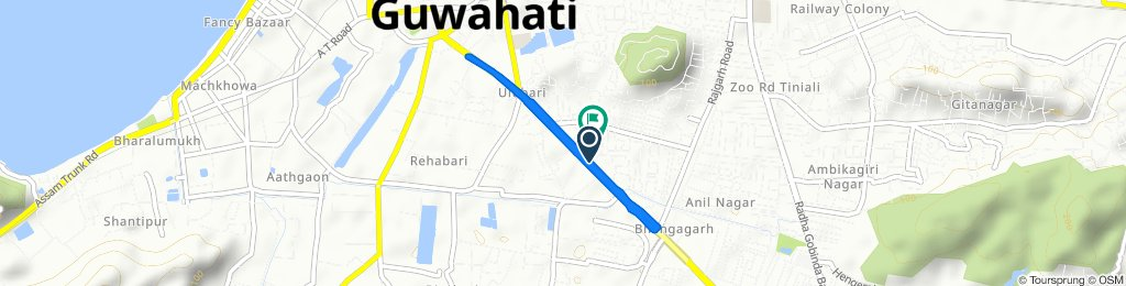 Relaxed route in Guwahati