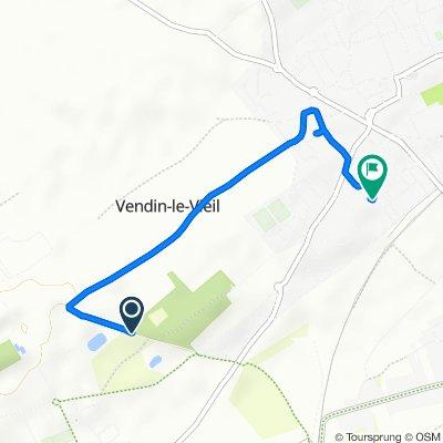 De Chemin de Béthune À Douai, Vendin-le-Vieil à Rue du Maréchal Fayolle 23, Vendin-le-Vieil