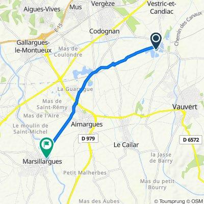 De Plans d'eau de Vergèze à Chaussée du Vidourle 8, Marsillargues