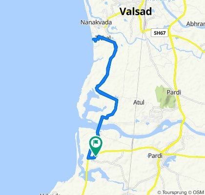 Moderate route in Valsad