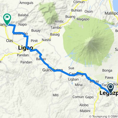 Marquez Street 114, Legazpi City to Unnamed Road, Polangui