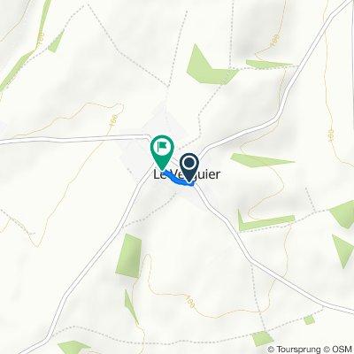 Moderate route in Le Verguier
