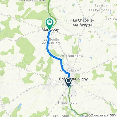 De 44–52 Rue de la Lancière, Sainte-Geneviève-des-Bois à 1 Place de l'Église, Montbouy