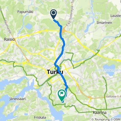 От Lentorahdintie 141, Turku до Jaakkimankatu 9, Turku
