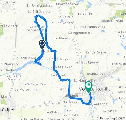 Itinéraire vers 7 Impasse de la Cité Rey, Montreuil-sur-Ille