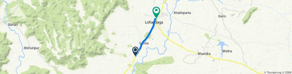 भूसर - घाघरा मार्ग, अर्रू to मेन मार्ग, लोहरदग्गा