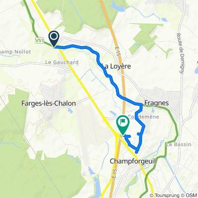 Itinéraire modéré en Champforgeuil