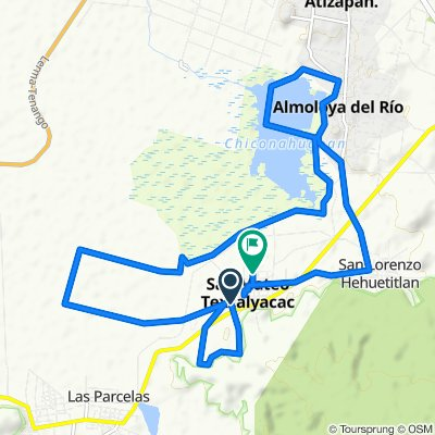 De Calle Melchor Ocampo, San Mateo Texcalyacac a Calle Manuel Molina 46, San Mateo Texcalyacac