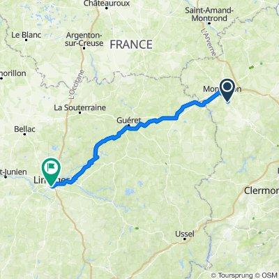 De 9bis Allée du Lac, Néris-les-Bains à Place Léon Bétoulle, Limoges