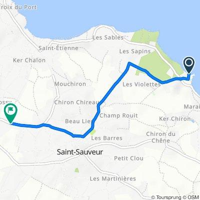 Itinéraire vers 33 Route de Raffinière, L'Île-d'Yeu