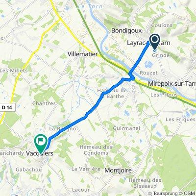 De 679 Route de Mirepoix, Layrac-sur-Tarn à 29–99 Route de Villariès, Vacquiers