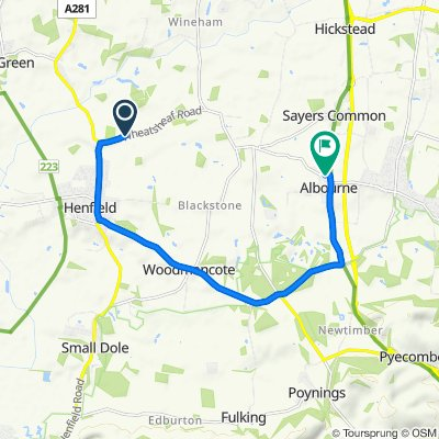 Wheatsheaf Road to Barn Close 10, Albourne