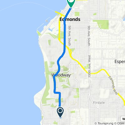 High-speed route in Edmonds