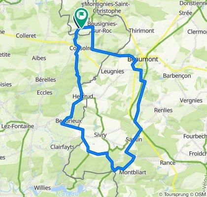 Bersillies - Montbliart 43km